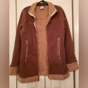 Womens Patagonia 2-tone Brown Synchilla Coat M